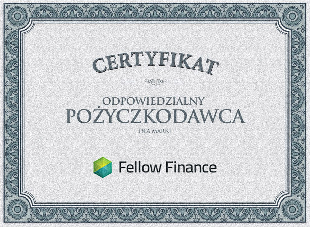 Certyfikat Fellow Finance